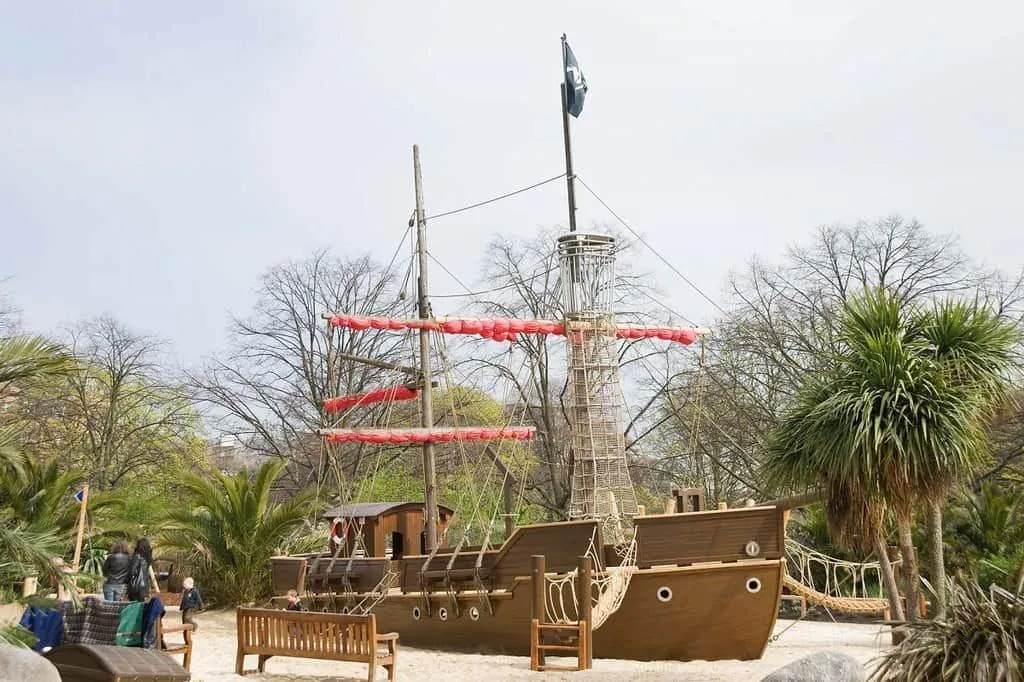 Big pirate ship in the Princess Diana Playground.
