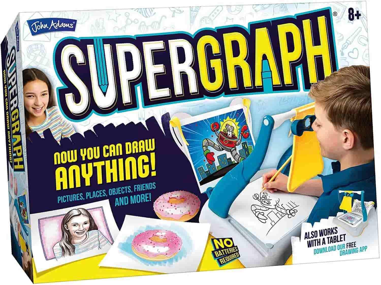 SuperGraph Drawing Station creates stunning art work.