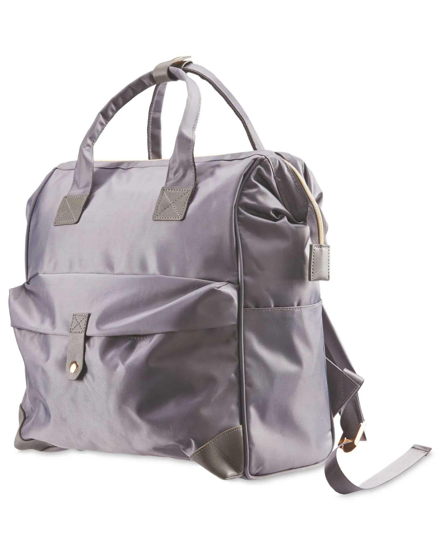 Grey Baby Change Backpack, Mamia.