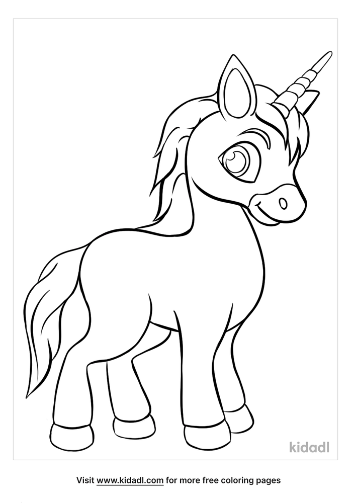Baby Unicorn Coloring Pages Free Unicorns Coloring Pages Kidadl