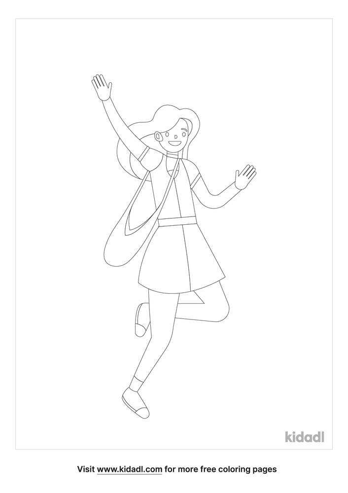 Teenage Girl Coloring Pages Free People Coloring Pages Kidadl