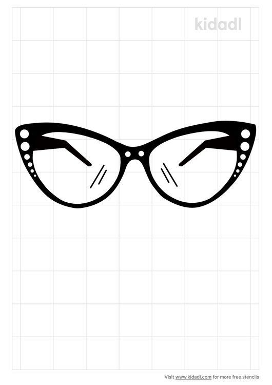 50s-glasses-stencil