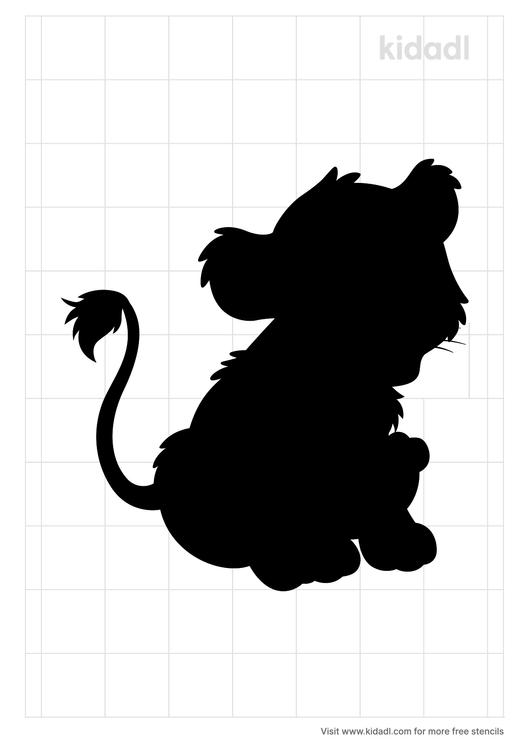 african-lion-cub-stencil
