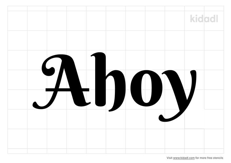 ahoy-stencil