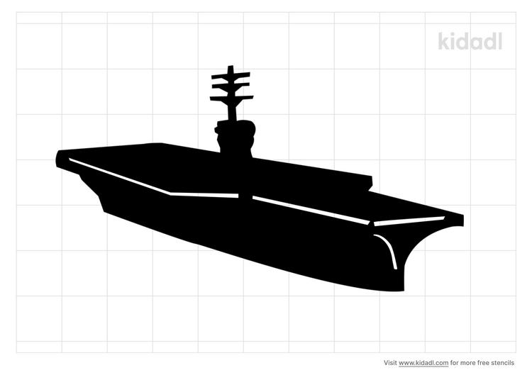aircraft-carrier-stencil