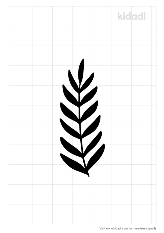 all-black-fern-stencil