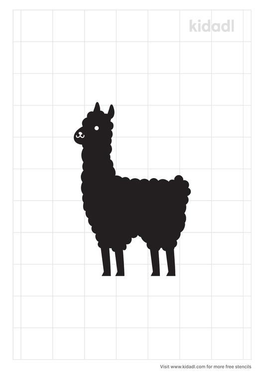 alpaca-stencil