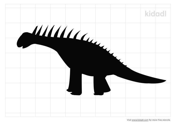 amargasaurus-stencil