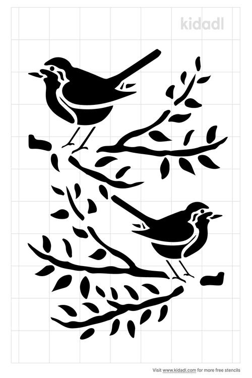 american-robin-stencil