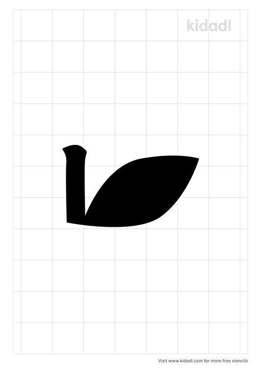 apple-stem-stencil