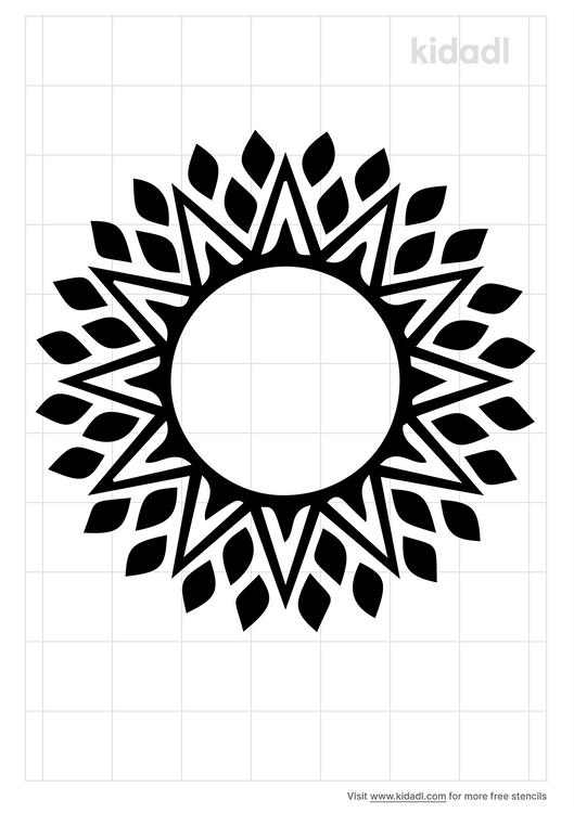 aztec-sun-stencil
