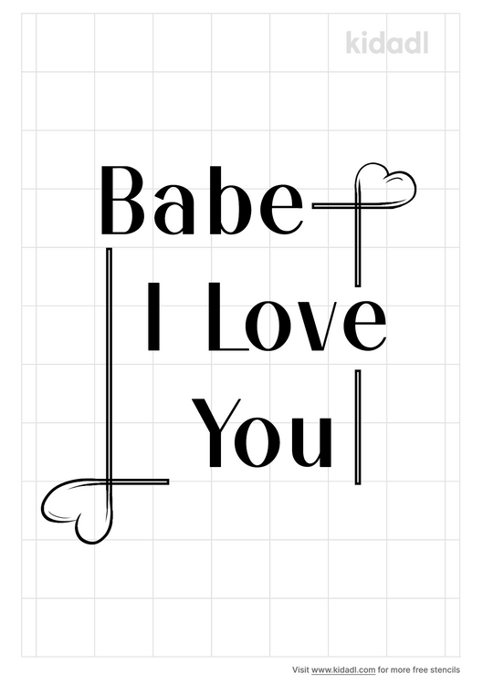 babe-i-love-you-stencil