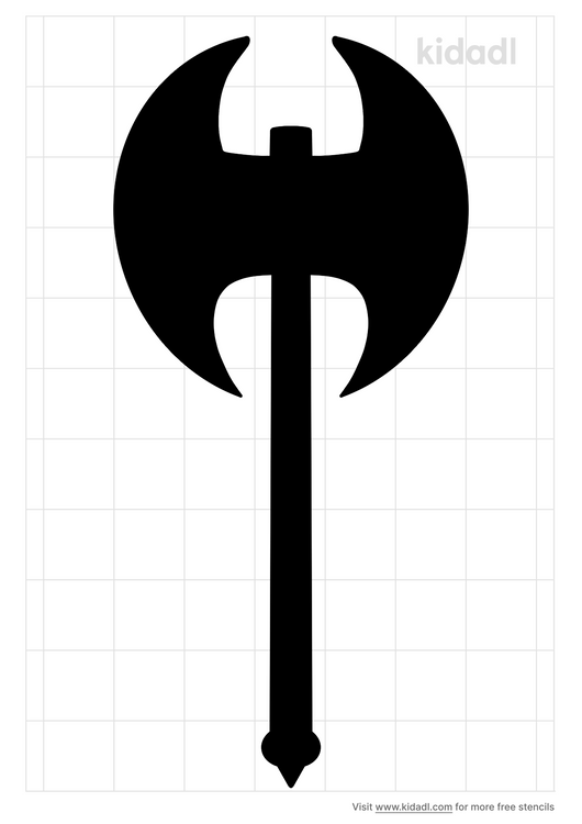 battle-axe-stencil