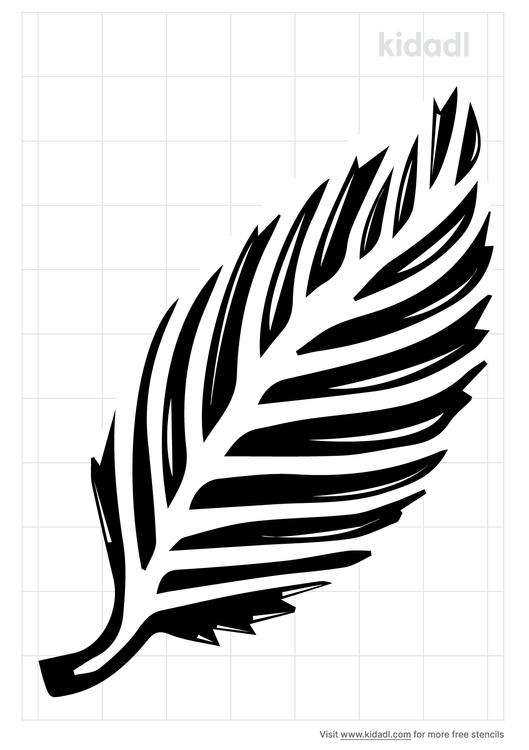 beach-leaf-stencil