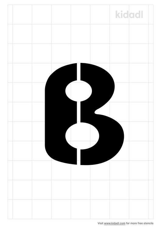 bubble-letter-b-stencil