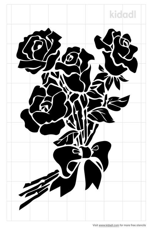 bunch-of-flower-stencil