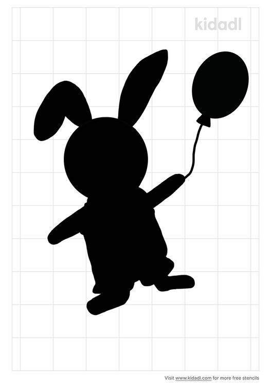 bunny-with-ballon-stencil