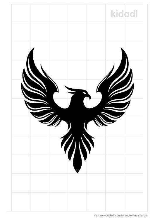 burning-phoenix-stencil-png