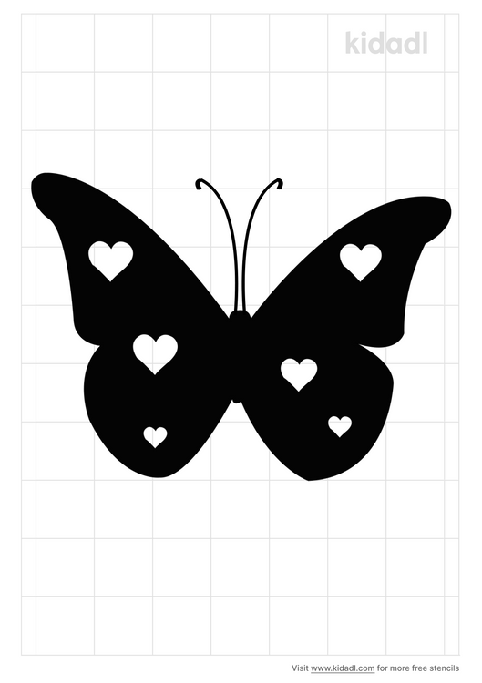 butterfly-with-heart-stencil