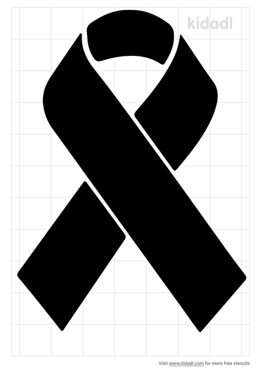 cancer-ribbon-stencil
