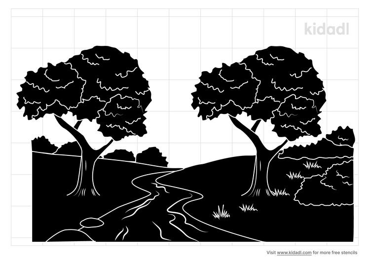 canoe-jungle-river-stencil