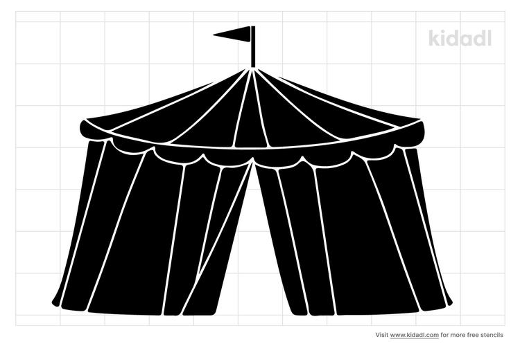 carnival-tent-stencil