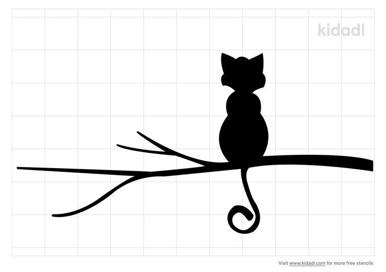 cat-in-a-tree-stencil