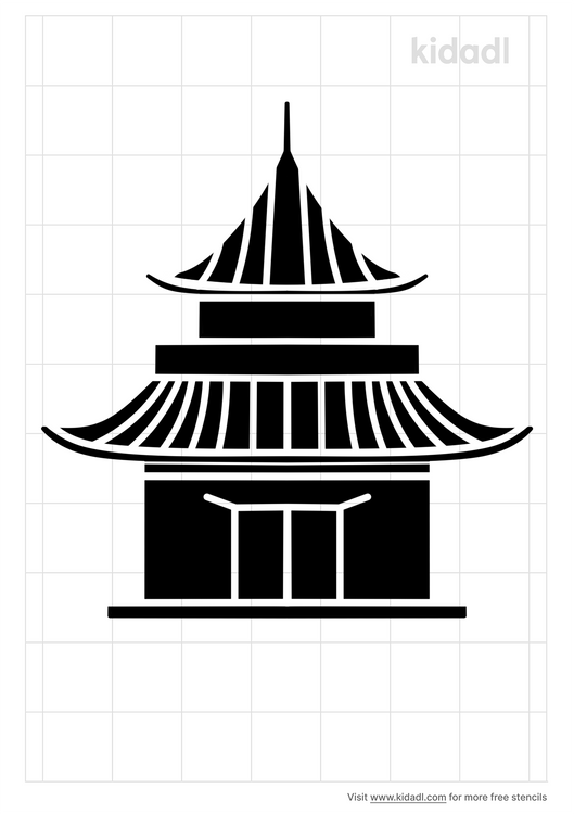 chinese-building-stencil