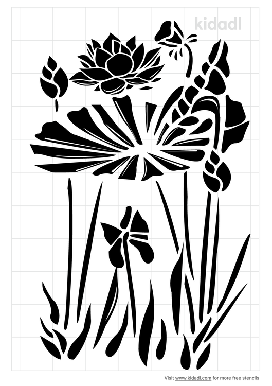chinese-squill-plant-stencil