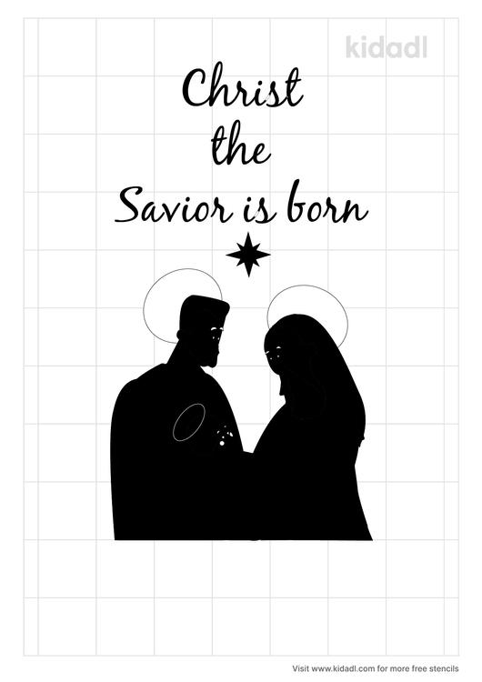 christ-the-savior-is-born-stencil