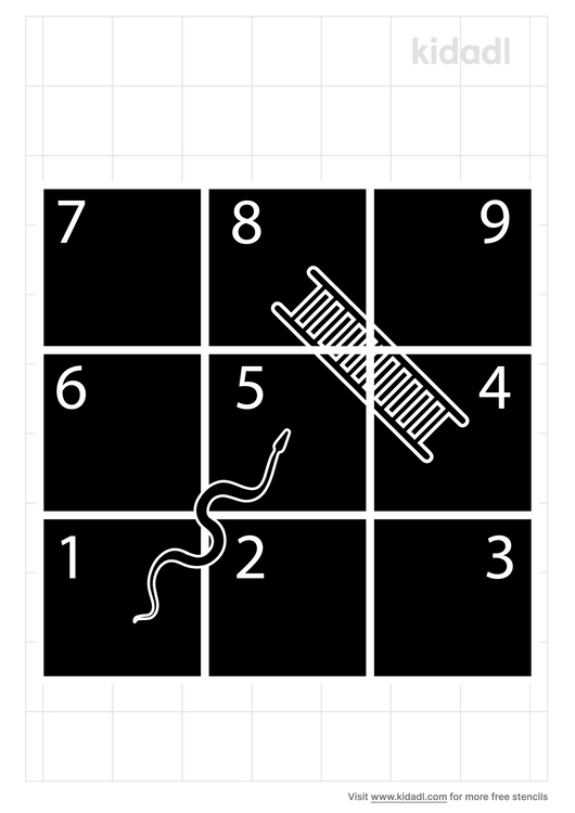chutes-and-ladders-stencil