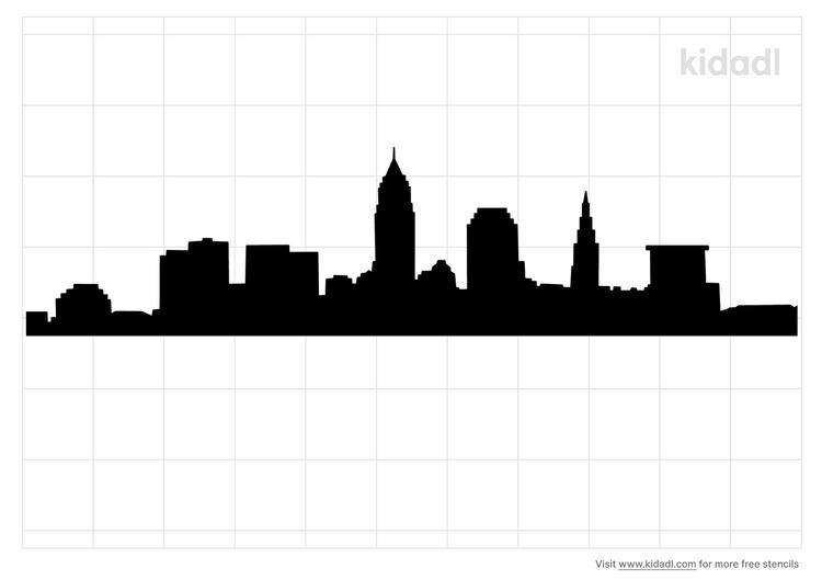 cleveland-skyline-stencil