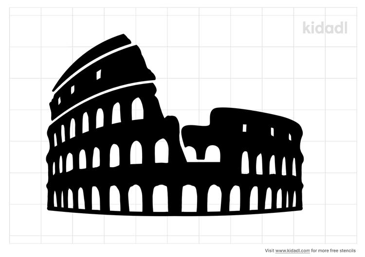 colosseum-stencil