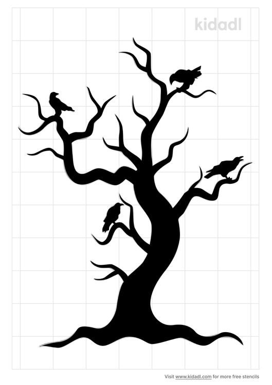 crow-branch-stencil