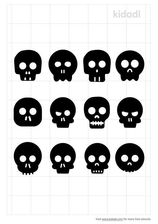 cute-boy-skull-stencil