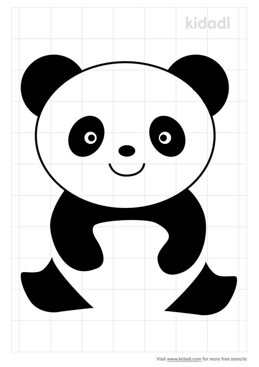 cute-panda-stencil