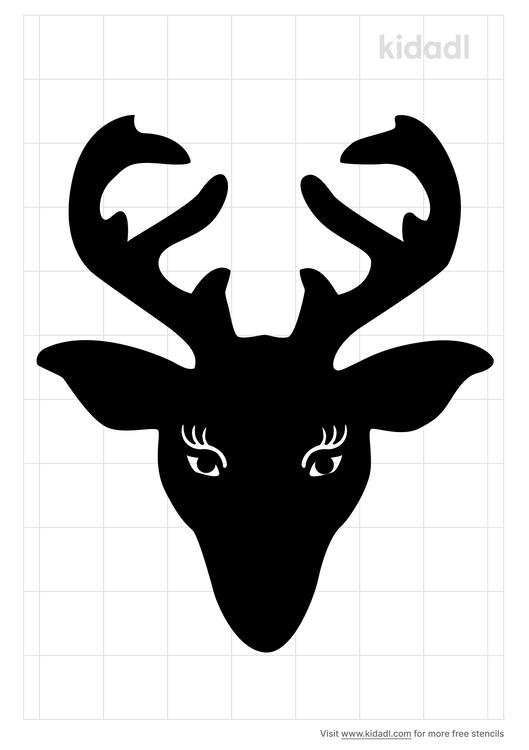 cute-reindeer-head-stencil