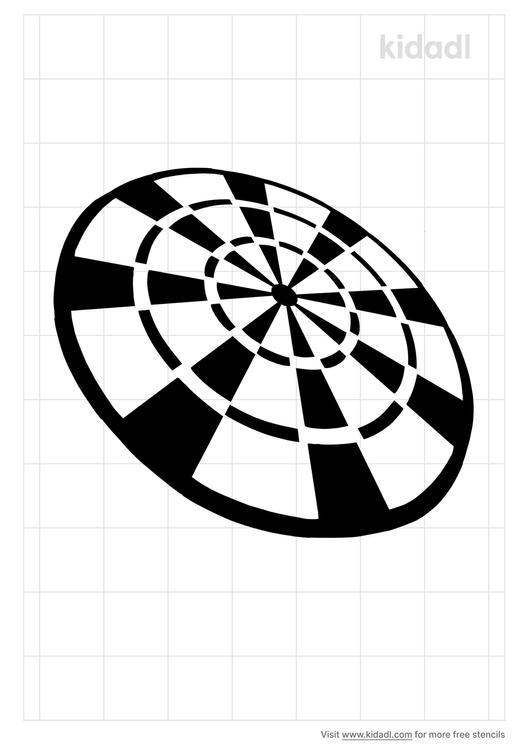dart-board-stencil