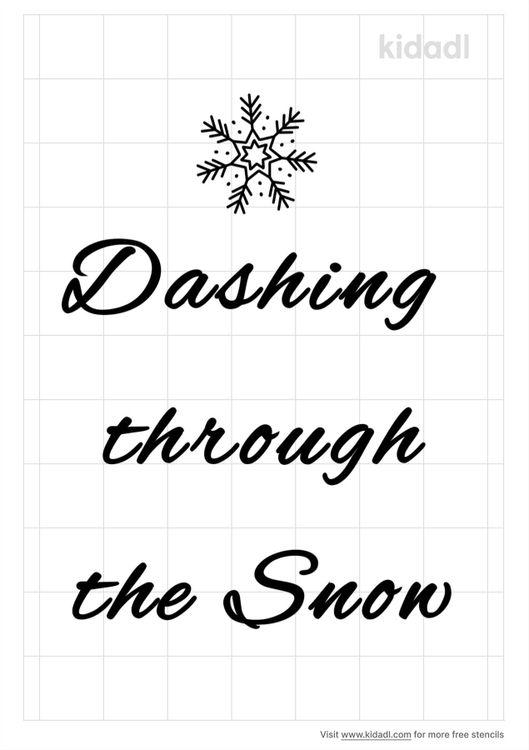 dashing-through-the-snow-stencil