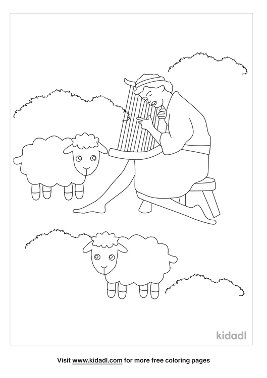 david-strengthened-himself-in-the-lord-coloring-page.png