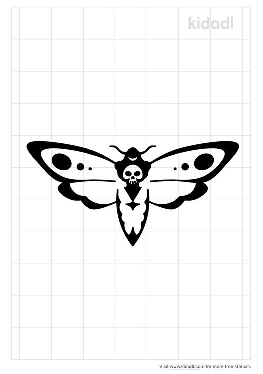 death-s-head-moth-stencil