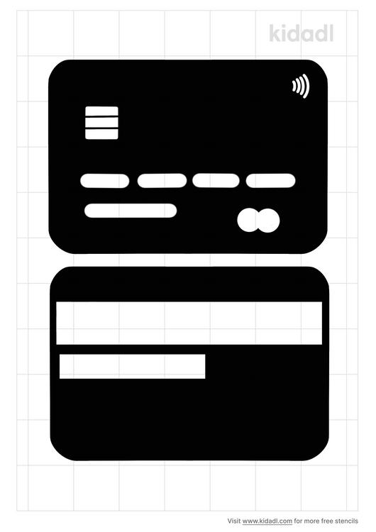 debit-card-stencil