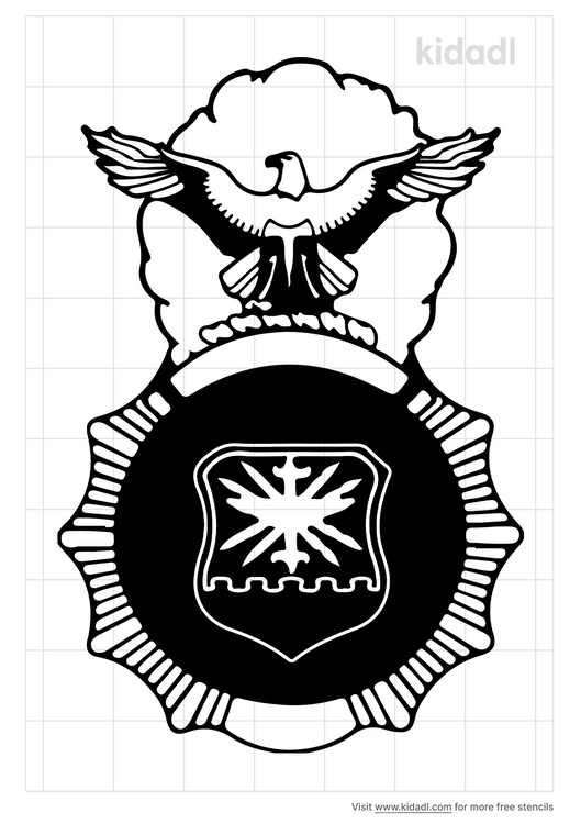 department-of-the-air-force-security-police-stencil