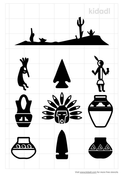 desert-southwest-element-stencil