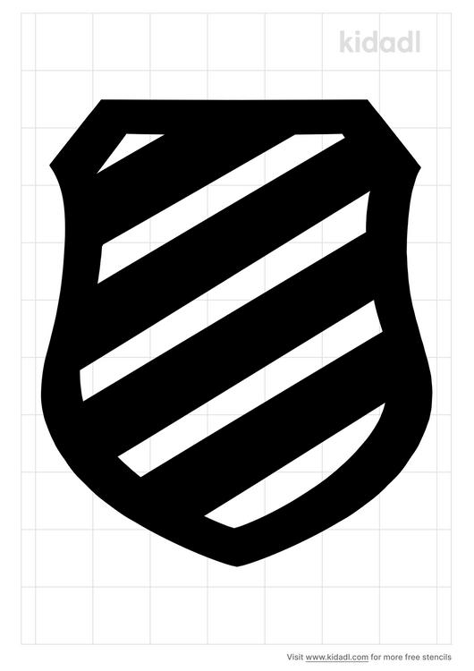 diagonal-shield-stencil
