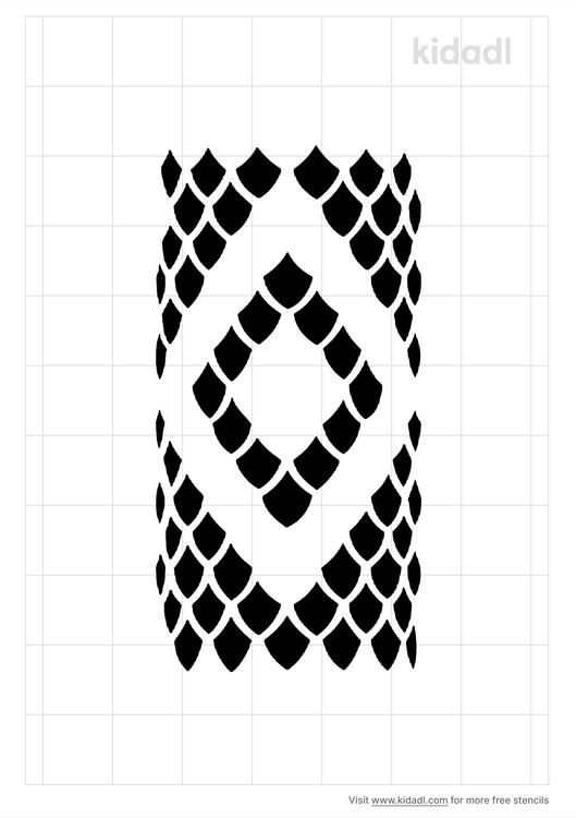 diamondback-snake-skin-stencil
