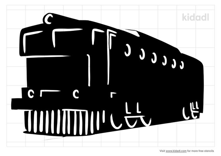 diesel-train-stencil