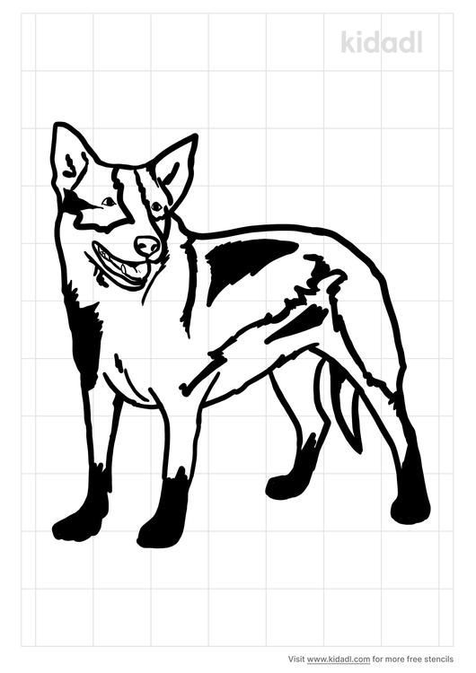 dog-heeler-stencil