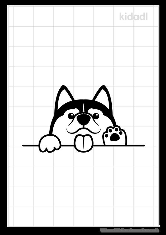 dog-peeking-stencil