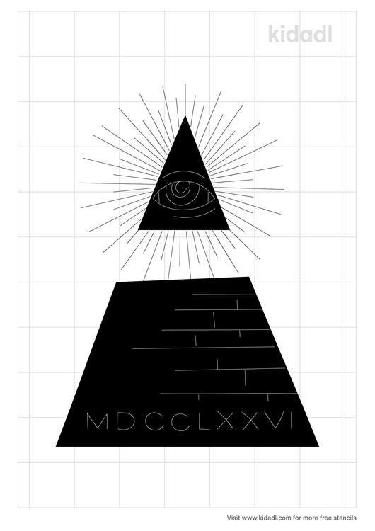 dollar-bill-pyramid-stencil